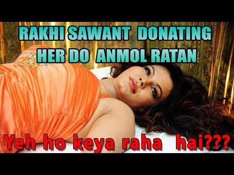 Play RAKHI SAWANT DONATING HER DO ANMOL RATAN | AWESAMO SPEAKS | Reaction