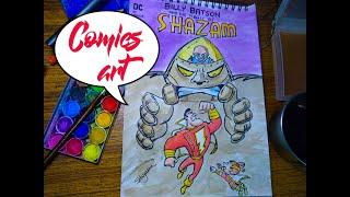 Shazam! comics cover making soft magic arts 2021 screenshot 4