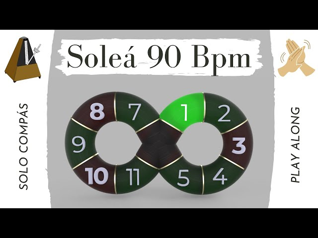 Solo compás (flamenco metronome) Soleá 90 Bpm