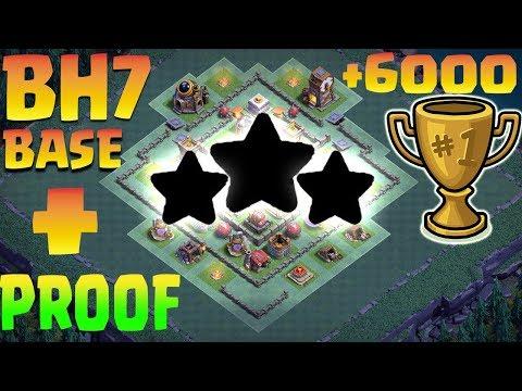 Best BH 7 (Builder Hall 7) Base 2018 Design Anti 1 Star Anti 2 Star Anti All Coc   Clash Of Clans