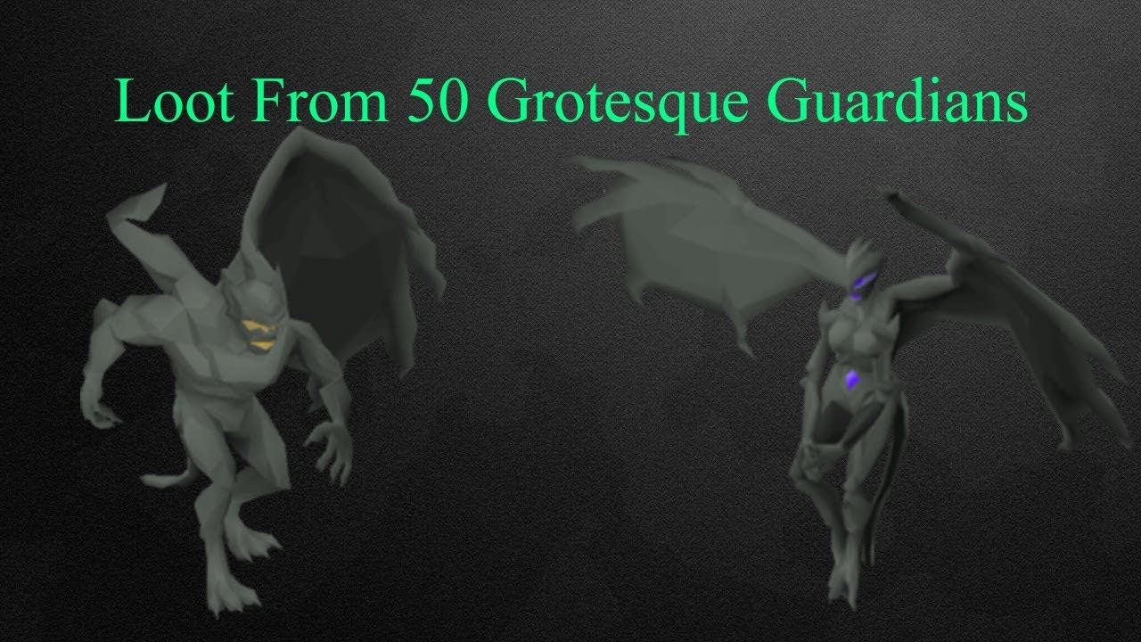 [OSRS] Loot From 50 Grotesque Guardians