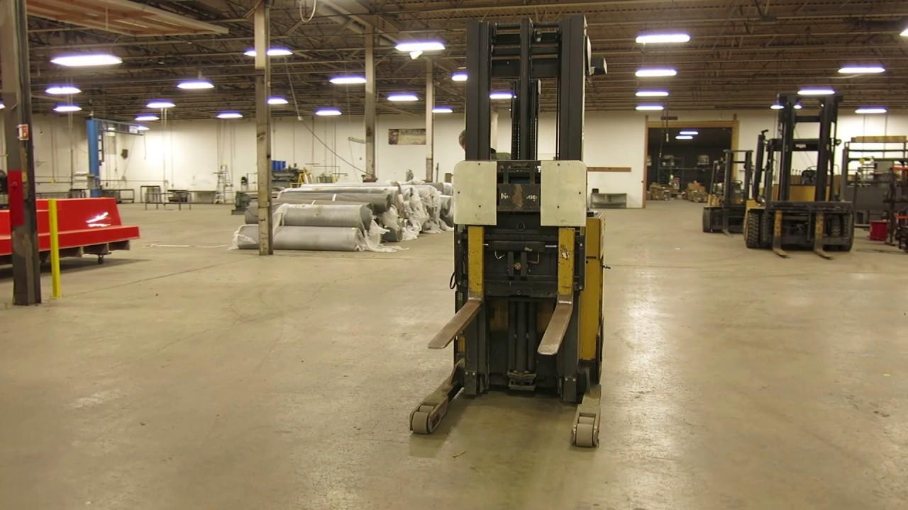 Lot 31 - Caterpillar Stand Up 36V Forklift, Model NRR40