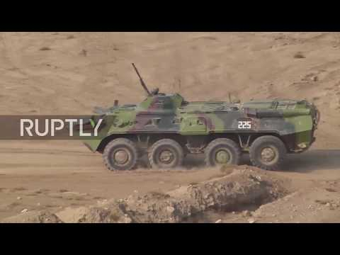 Tajikistan: CSTO choppers and armour take part in explosive