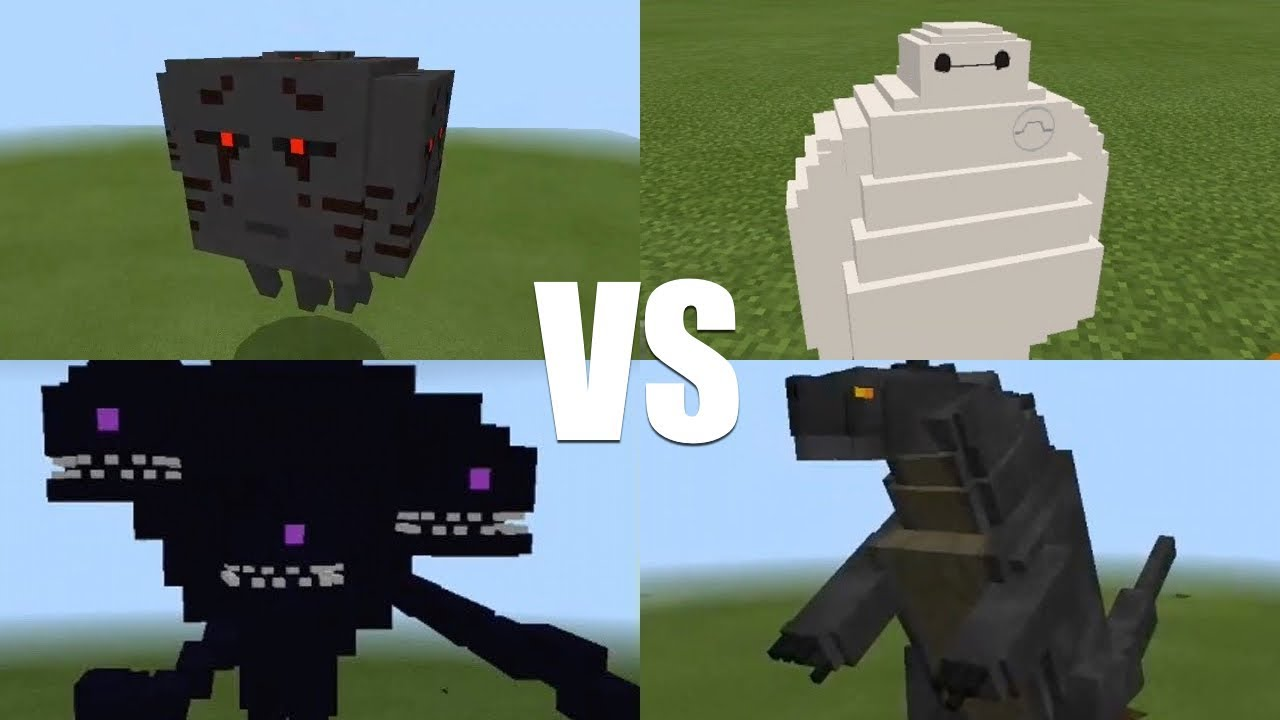 minecraft 3 headed ghast vs wither