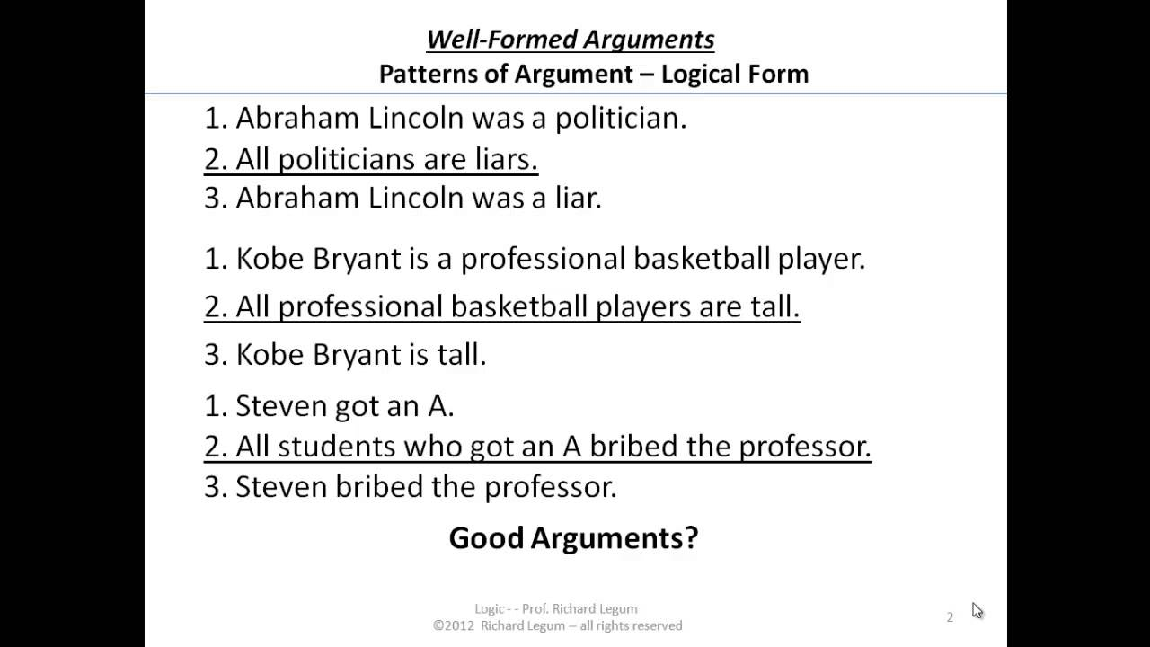 03 3 02 Logic Form Valid Arguments More Examples Youtube