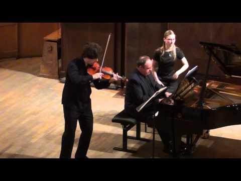 Ivan Pochekin (violin), Alexander Ghindin (piano). Johannes Brahms-Violin Sonata No.3, Op. 108.