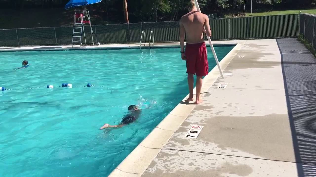 Luke Boy Scout swim test - YouTube