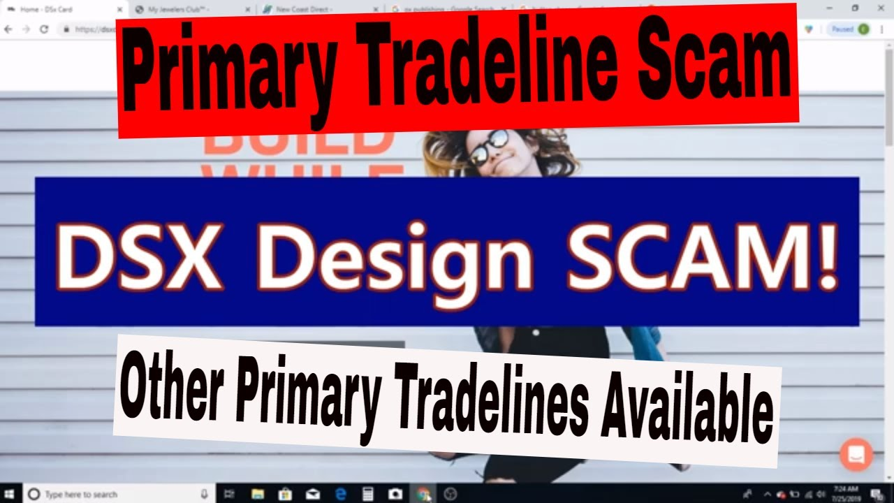 DSX Design Scam  Build your credit with others up to $14,000 Tradelines