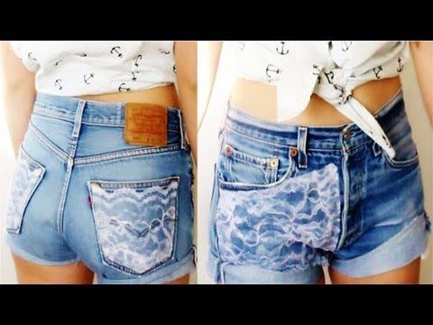 DIY: Lace Denim Shorts! - YouTube