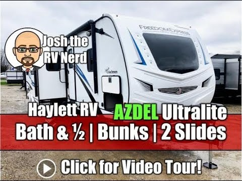 Best Bunkhouse Travel Trailer 2020 NEW MODEL! 2020 Freedom Express 326BHDS Bath & a Half AZDEL