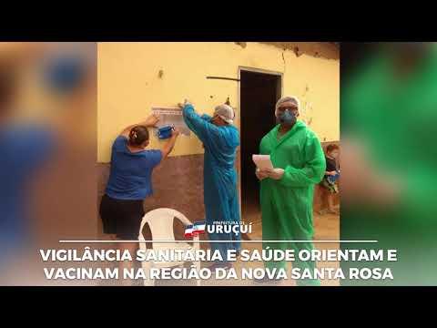 Equipes da Vigilância sanitária estiveram nas comunidade Santa Tereza e Nova Santa Rosa com ação.