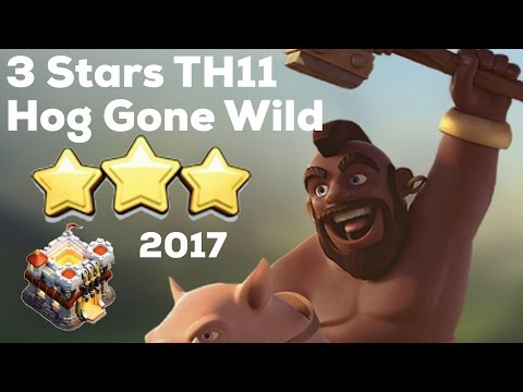 Clash Of Clan 🌟 3 Stars TH11 With HogRider 🌟