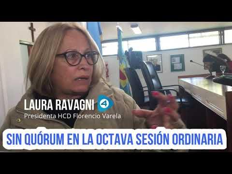 HCD de Florencio Varela: Laura Ravagni habló con periodistas luego de la falta de quórum para sesionar