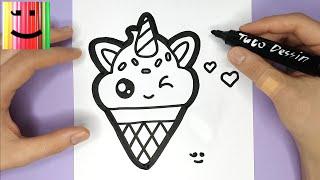 Comment dessiner une glace kawaii dessin facile - Comment dessiner hello kitty facilement ...