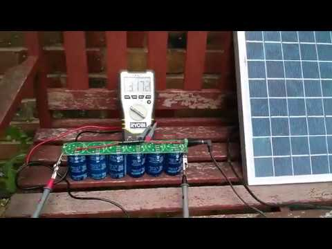 SuperCapacitors (500F x 6) and Solar Panel (15W)