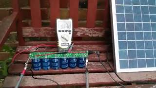 SuperCapacitors (500F x 6) and Solar Panel (15W)