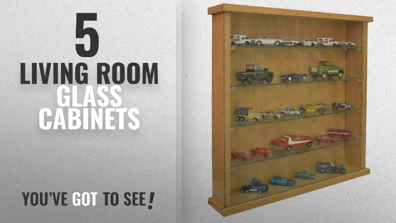 Top 10 Living Room Glass Cabinets [2018]: COLLECTORS - Wall Display Cabinet  With Four Glass Shelves
