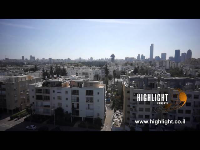 DC005B Israel aerial stock footage: Ascending video shot of Tel Aviv, revealing cityscape