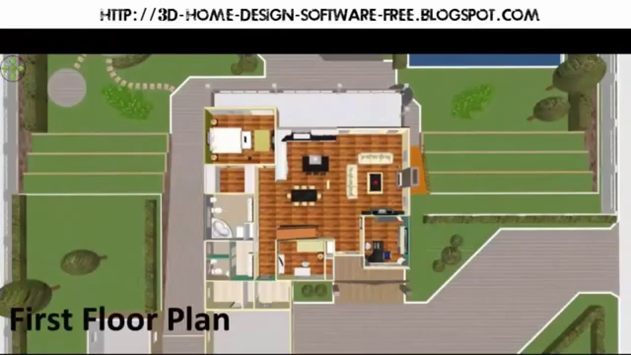 3d software for house design easy building house plan for Free 3d house design software online