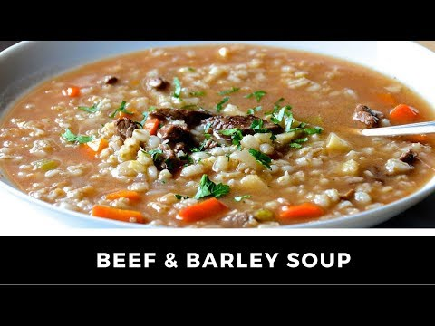 BEEF & BARLEY SOUP Recipe - A Slow Cooker Special!