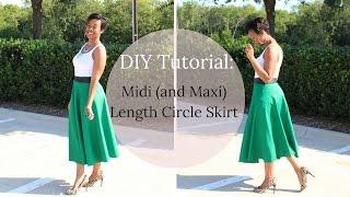 DIY Tutorial: Midi Or Maxi Length Circle Skirt