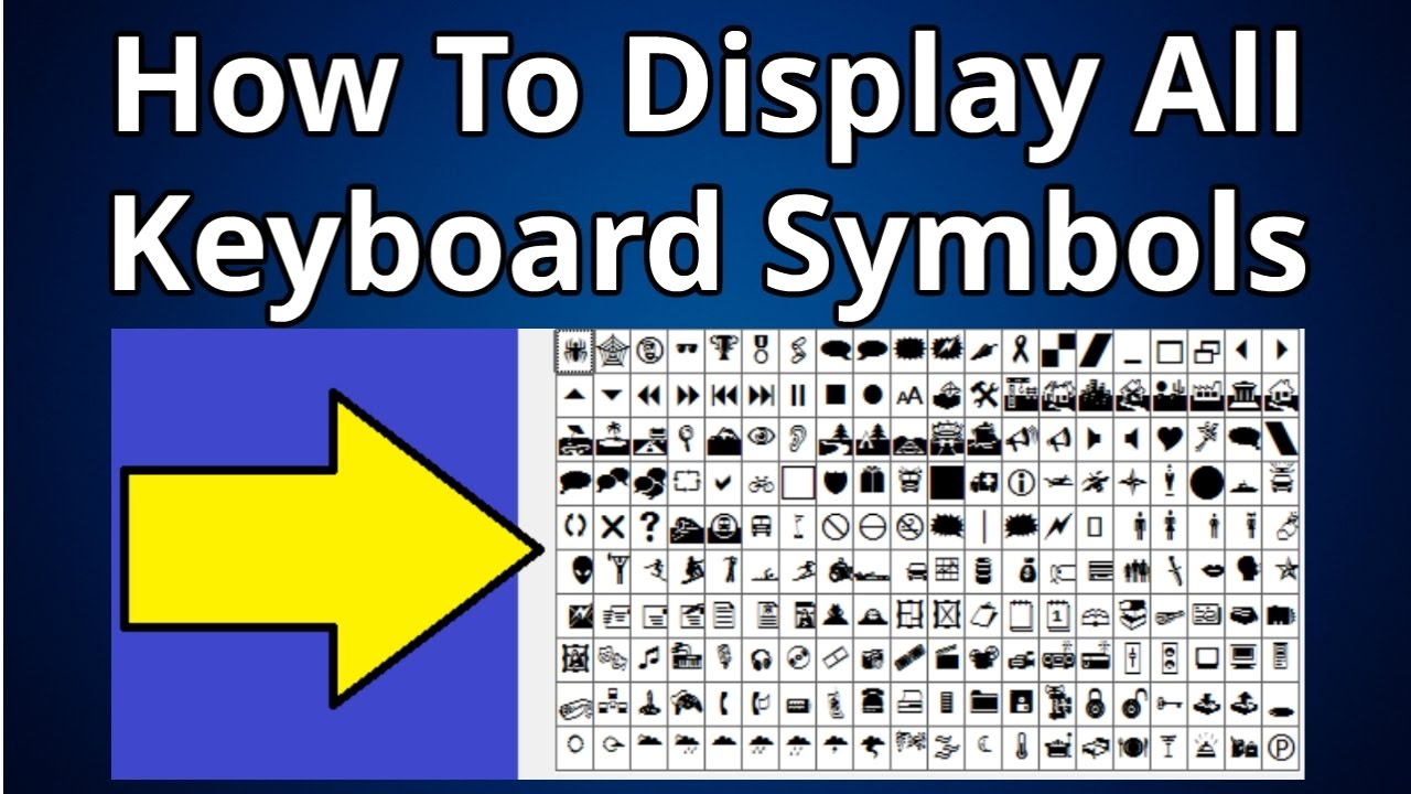 How To Display All Keyboard Symbols Youtube