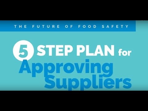 National Food Safety Month  - 5 Step Plan for Approving Suppliers
