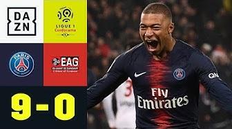 Kylian Mbappe & Co. mit gnadenlosem Rachefeldzug: PSG - Guingamp 9:0 | Ligue 1 | DAZN Highlights