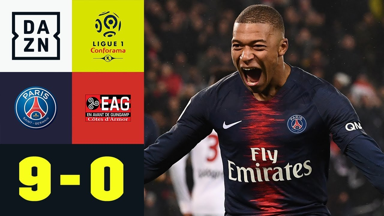 Kylian Mbappe & Co. mit gnadenlosem Rachefeldzug: PSG - Guingamp 9:0   Ligue 1   DAZN Highlights