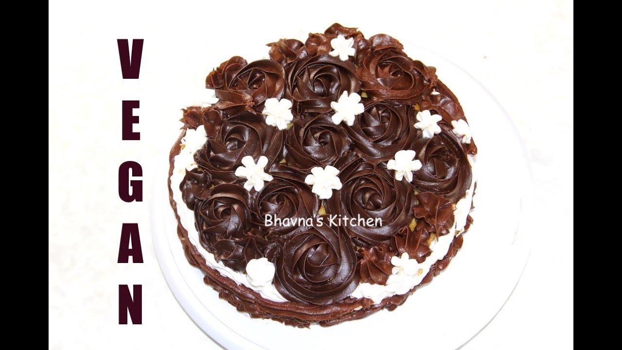 Vegan Vegetarian Vanilla Cake Making form Ready Cake Mixes Video Recipe | Bhavna's Kitchen