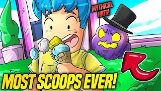 GETTING *NEW* MYTHICAL HATS IN ICE CREAM SIMULATOR UPDATE! *INSANELY OVERPOWERED* (Roblox)