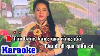 Chuyến Tàu Về Quê Ngoại (Karaoke Beat) - Tone Nữ | Đông Đào Karaoke