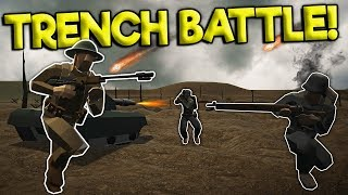 HUGE WW2 TRENCH DEFENSE BATTLE! - Ravenfield Gameplay - WWII Mod