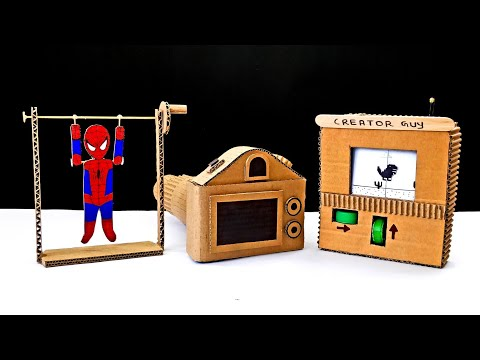 3 Amazing DIY Cardboard Projects or DIY Cardboard Toys