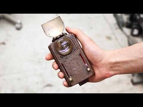 wwii-flashlight-with-rust-holes---restoration