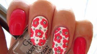 Manicure - Flowers on short nails / Маникюр - цветы на коротких ногтях ( 3 - 10 )