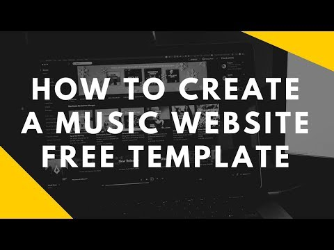 How To Make a Music Website Free Template