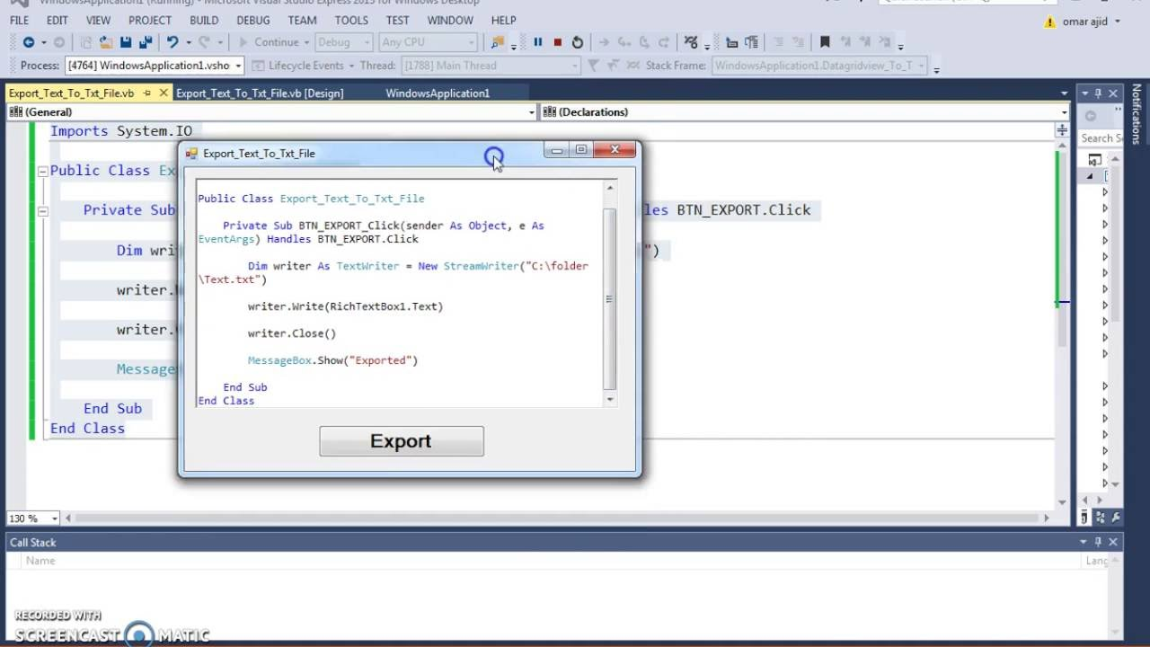 how to read a text file in vb