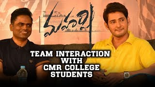 College lo Maharshi - Interaction with CMR College Students - Mahesh Babu, Vamshi Paidipally