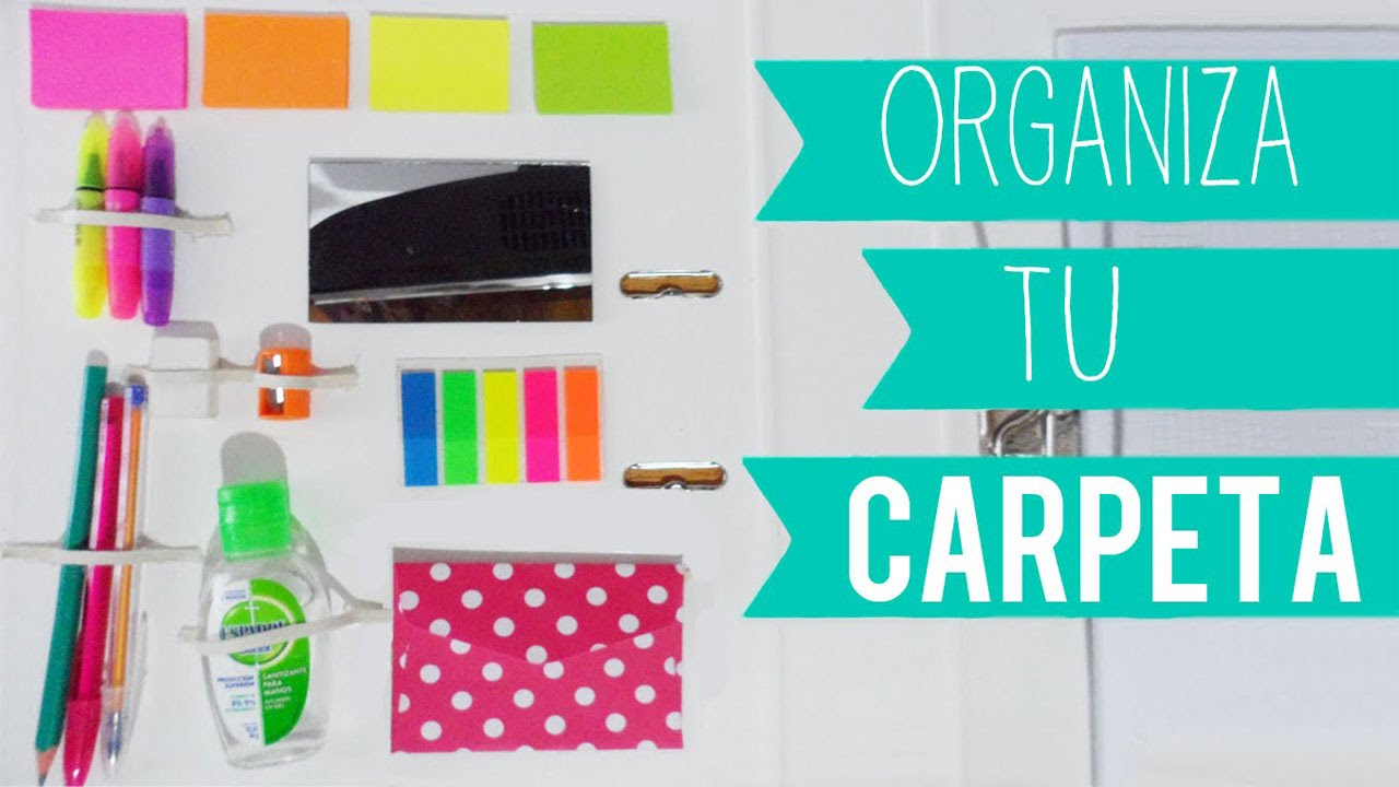 Diy organiza y decora tu carpeta cuaderno para el regreso a clases tutoriales belen youtube - Por fin vas a ordenar tu casa ...