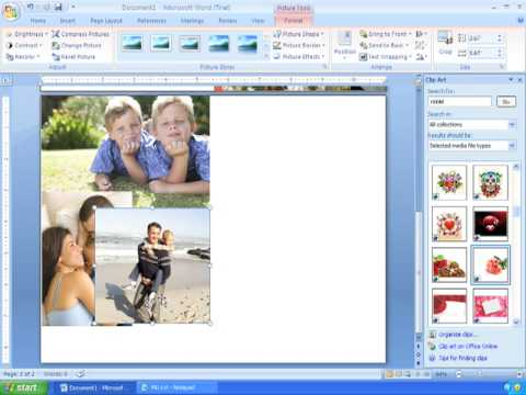 Word 2007 Tutorial 21 (1/2) Making Custom Cards for Valentine\u0027s Day - birthday card format for word