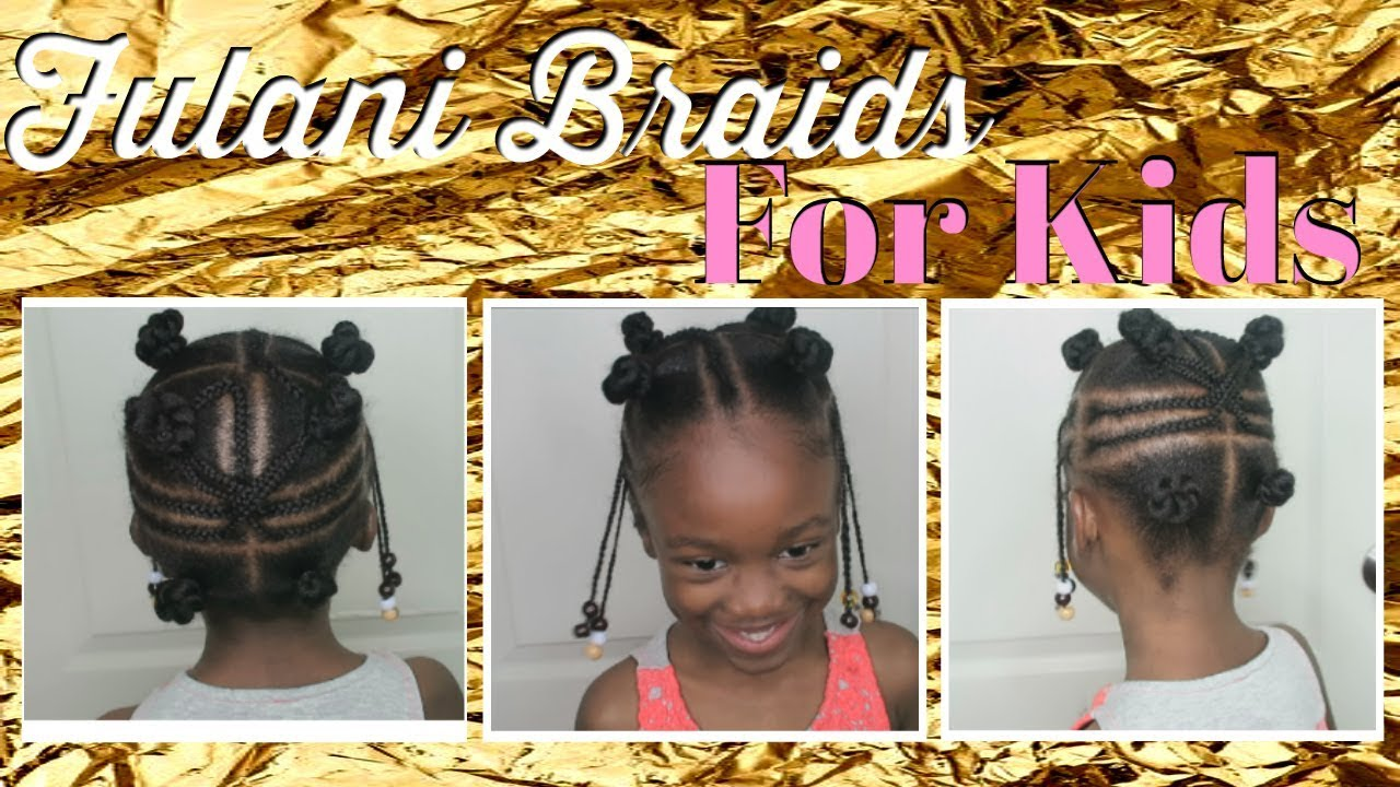 Fulani Braids And Beads No Weave Added Kid Friendly Youtube