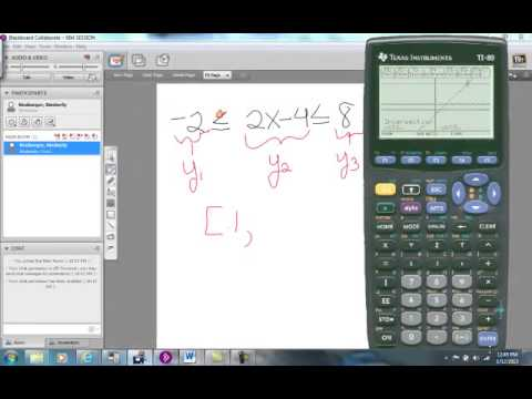 writing inequalities calculator Solving linear inequalities to perform a partial check with a graphing calculator, we graph y = writing an equivalent inequality.