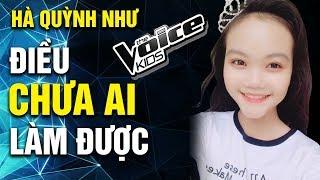 HÀ QUỲNH NHƯ Đã Làm Được Điều Mà Chưa Ai Từng Thực Hiện Được Trên Sân Khấu The Voice Kids 2018