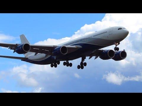 RARE! HiFly A340-500 [CS-TFX] (for Niki) Close Up Landing at Berlin Tegel Airport (TXL) [Full HD]