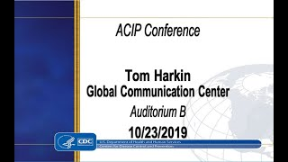 October 2019 ACIP Meeting - Welcome & Introductions; Pertussis