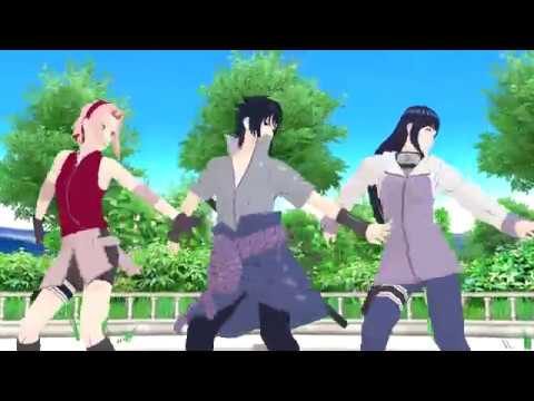 【MMD】Follow The Leader - Sakura X Sasuke X Hinata