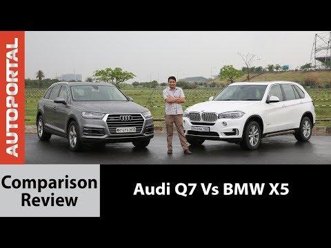 BMW X5 vs Audi Q7 Test Drive Comparison Review - Autoportal