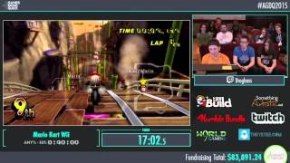 Awesome Games Done Quick 2015 - Part 5 - Mario Kart Wii by drog