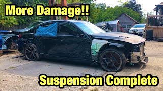 Rebuilding A Totaled Wrecked 2018 Bmw M3 From Copart Salvage Auction More Damage Found
